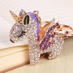 Accessories - Purple Unicorn Keychain 🦄